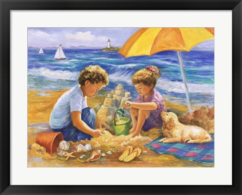 Framed Beach Fun Print