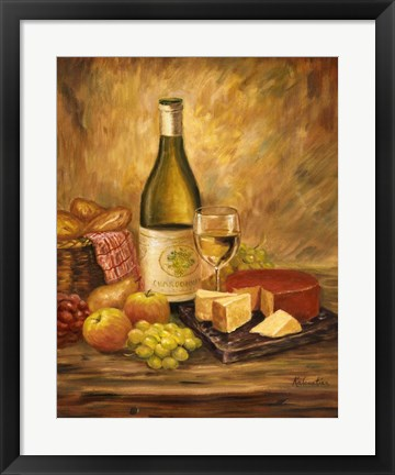 Framed Tuscany Table With Cheese Print