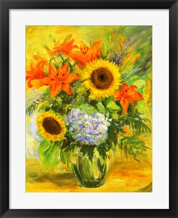 Framed Flowers Print