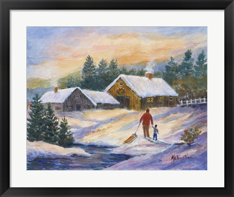 Framed After the Sleigh Ride Print