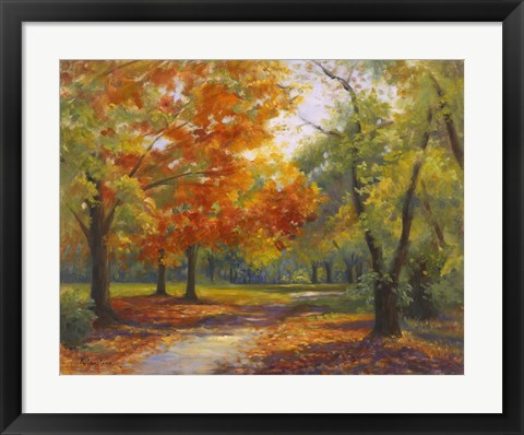 Framed Autumn Path Print