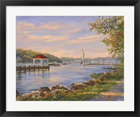 Framed Before Sunset At Northport Print