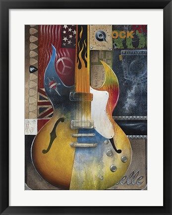 Framed I Love Rock & Roll Print