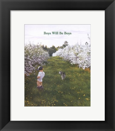 Framed Boys Will Be Boys Print