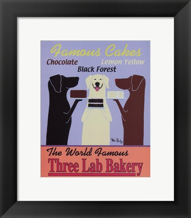 Framed Three Lab Bakery Print