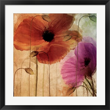 Framed Penchant For Poppies Print