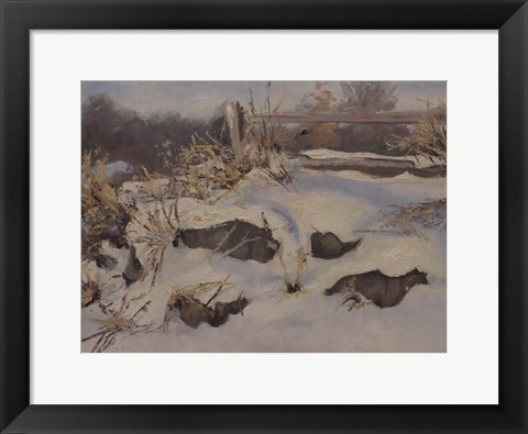 Framed Snow Mounds Print
