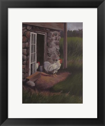 Framed Top Rooster Print