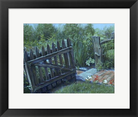 Framed Fence Gate Print