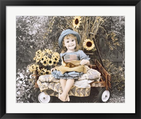 Framed Sunflower Smile Print