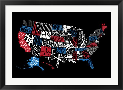 Framed USA3 Print