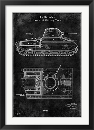 Framed Tank1 Black Print