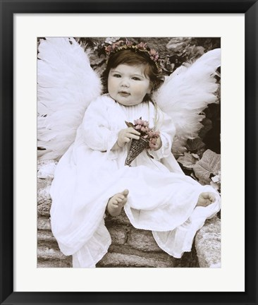 Framed Baby Angel Print