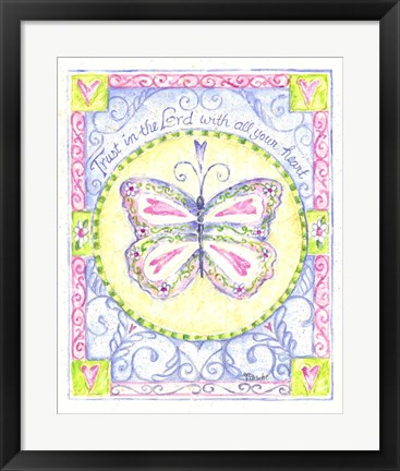 Framed Trust in the Lord with All Your Heart Print