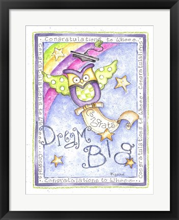 Framed Dream Big Print