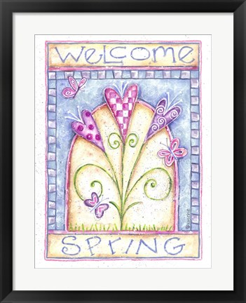 Framed Welcome Spring Print