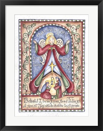 Framed Hallelujah Angel Print