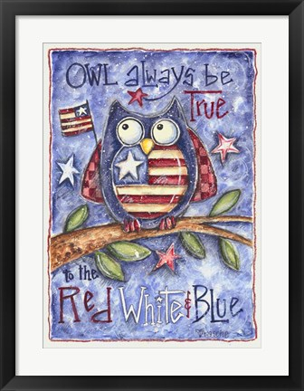 Framed Owl Always Be True Print