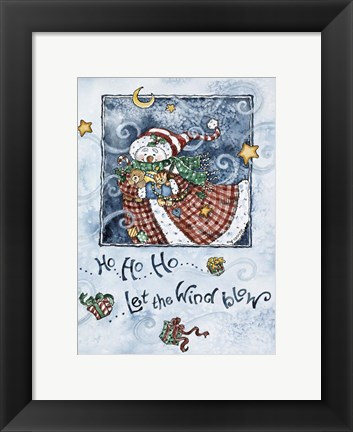 Framed Let The Wind Blow Print