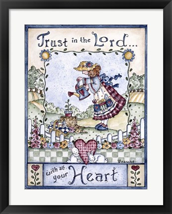 Framed Trust In The Lord 2 Print