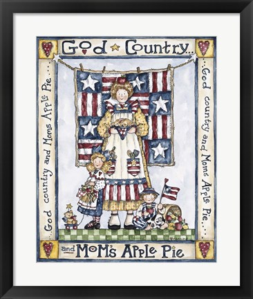 Framed God Country Print