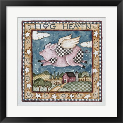 Framed Hog Heaven Print