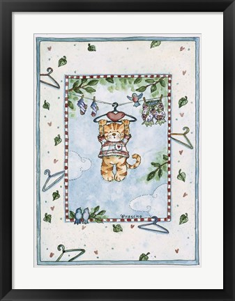 Framed Hanging Kitty Print