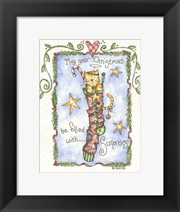 Framed May Your Christmas Be Filled With Surprises Print