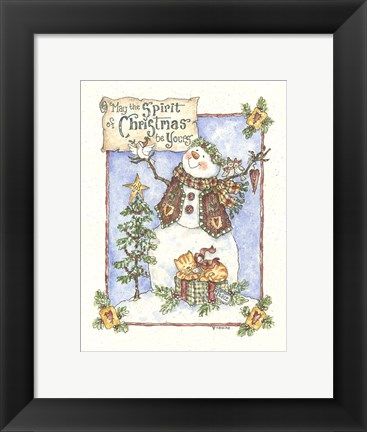 Framed May The Spirit Of Christmas Be Yours Print