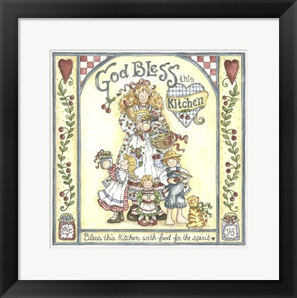Framed God Bless Print