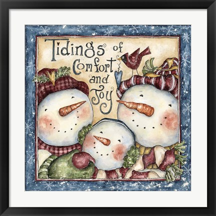 Framed Tidings Of Comfort And Joy Print