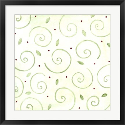 Framed Green Pattern 2 Print