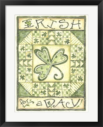 Framed Irish For A Day Print