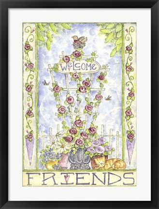 Framed Welcome Friends Print