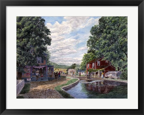 Framed Summer on the Morris Canal Print