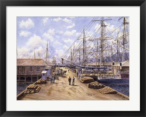 Framed Wellington Wharf, Well. N.2, c.1898 Print