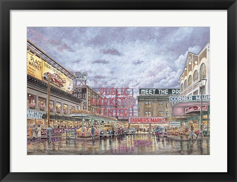 Framed Pike Place Market Print