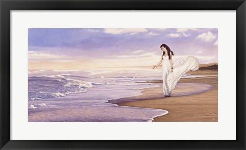 Framed Ocean Waves Print