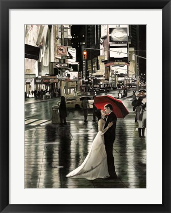 Framed Romance in New York (Detail) Print