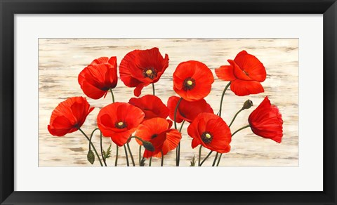 Framed French Poppies Print