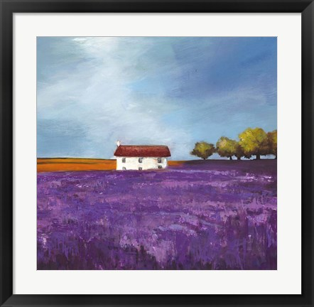 Framed Field of Lavender I Print