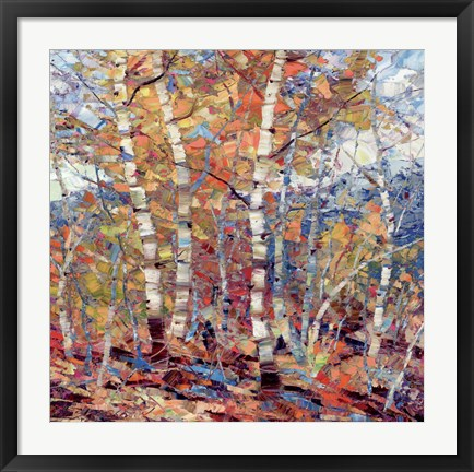 Framed Birch Colors 1 Print