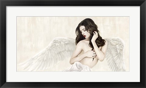 Framed Inspiring Angel (Detail) Print