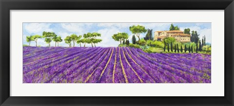 Framed Campagna Provenzale Print