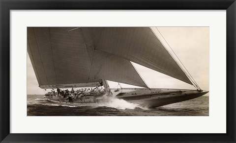 Framed J Class Sailboat, 1934 Print