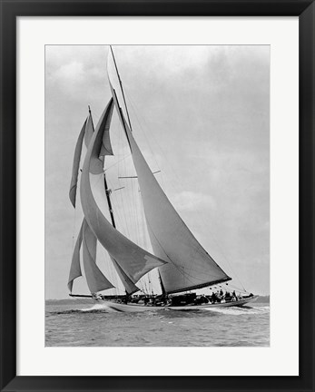 Framed Schooner Half Moon at Sail, 1910s Print