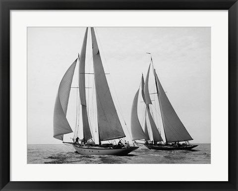 Framed Sailboats Race during Yacht Club Cruise Print