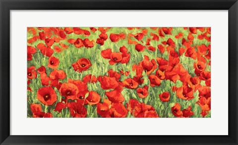 Framed Poppy Field Print