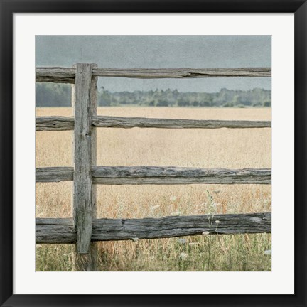 Framed Neutral Country I Print