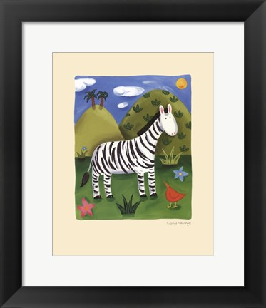 Framed Zara the Zebra Print